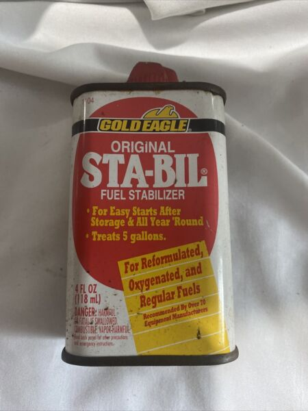 VINTAGE ADVERTISING STA BIL FUEL OILER TIN COLLECTIBLE Full Can