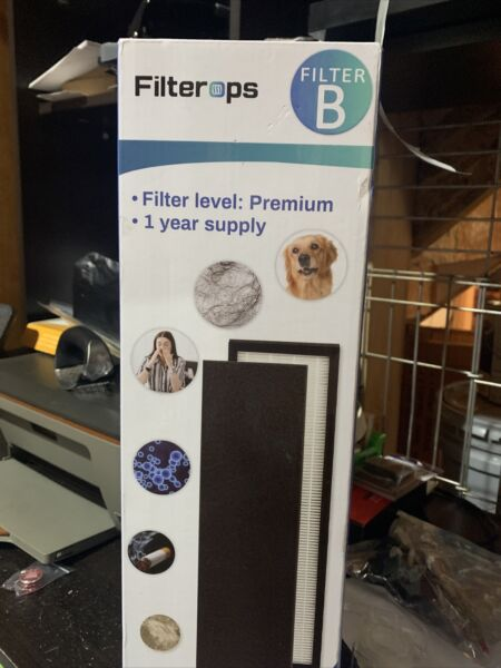 FILTEROPS Hepa Replacement Air Filter Size B New $10.00