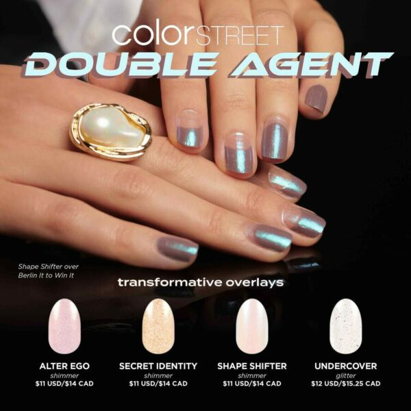 ✨💝 COLOR STREET DOUBLE AGENT OVERLAY NAIL STRIPS PRE ORDER 💝✨