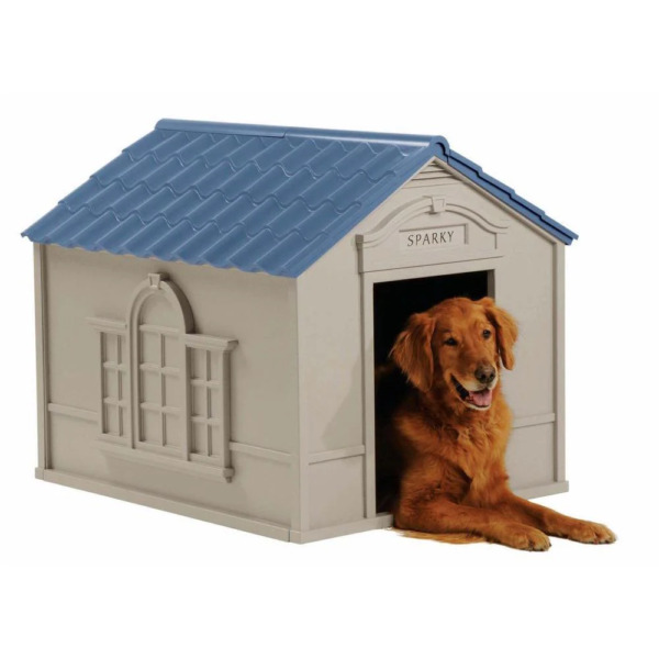 New DOG HOUSE KENNEL FOR X LARGE 100 LBS Pet Outdoor Heavy Duty Doghouse Shelter $78.55