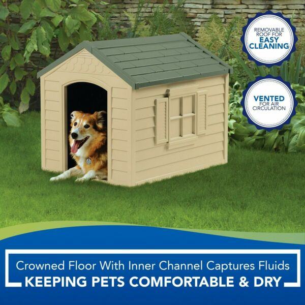 New Dog Pet House XXL Outdoor Large All Weather Durable Shelter Kennel Cage $74.55