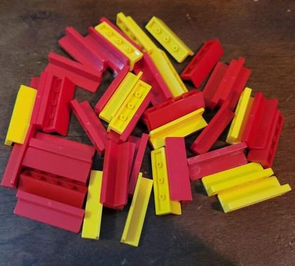 LEGO red and yellow 1x4x1 wall panels $1.49