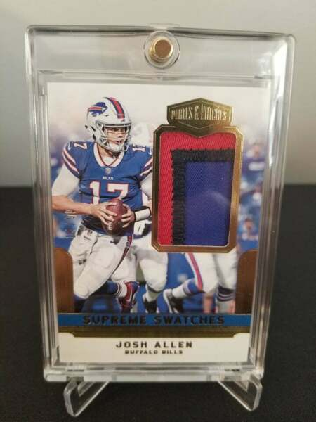 2018 Plates And Patches Josh Allen 3 Color Patch 99 Buffalo Bills Rookie $149.99