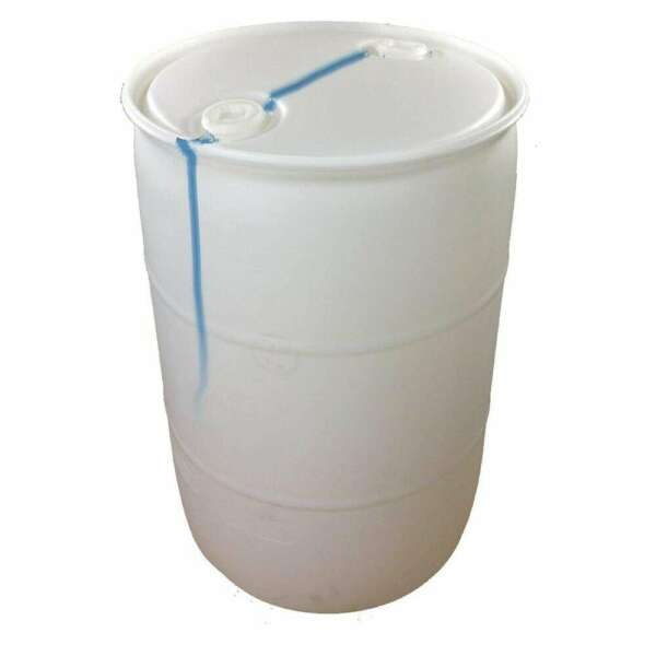 55 Gallon Blemished Natural White Industrial Plastic Drum $117.70
