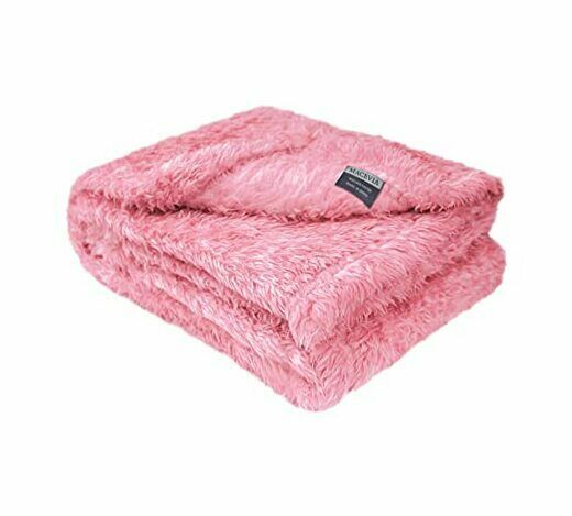 Fluffy Fleece Dog Blankets Warm Soft Fuzzy Pets Blankets for S 24quot;x29quot; Pink $17.07