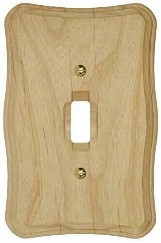 Provincial Unfinished Wood Switch plate Wall plate Cover Toggle 4 420T $14.09