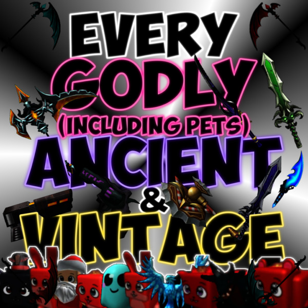 Roblox MM2 Small Set Every godly ancient and vintage Cheap amp; fast $8.99