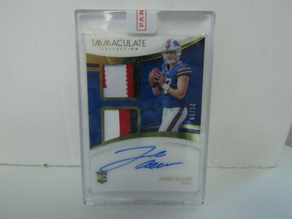 2018 Panini Immaculate #IS JA Josh Allen 4 Color Dual Patch Auto RC 26 99 Bills $2999.99