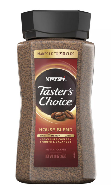 NESCAFE Taster#x27;s Choice House Blend Instant Coffee 14 oz FREE and FAST Shipping $16.20