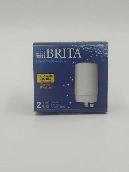 BRITA faucet replacement filters 2 filters for all brita faucet systems white