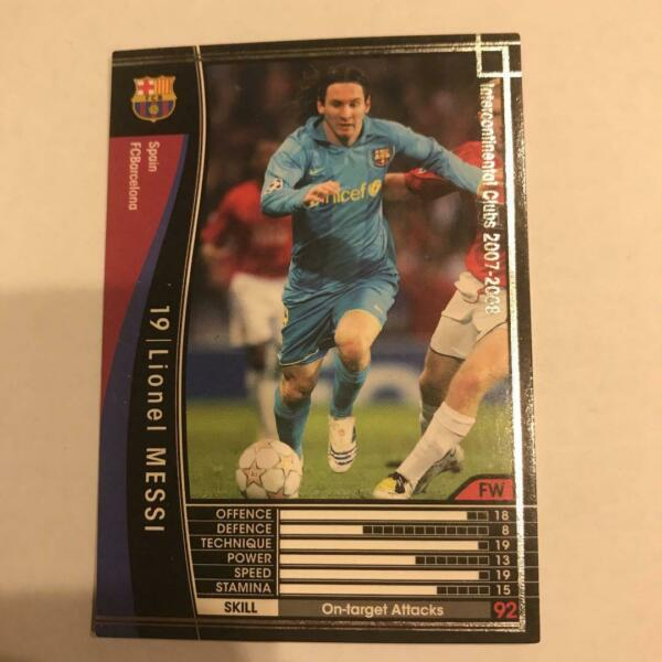 Panini WCCF 2007 08 Lionel Messi Refractor card FC Barcelona Argentina Away