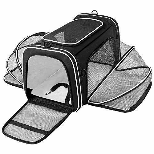 TSA Airline Approved Large Pet Travel Carrier4 Sides Expandable with 2 Mesh $71.37