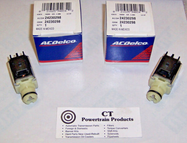 4L60E 4L65E New OEM Shift Solenoids 2 Pack Kit A 1-2 And B 2-3 AC Delco Solenoid