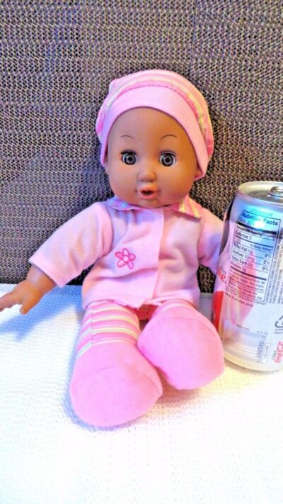 African American Doll, Vynil & Plush, Infant, by GIGO Toys Fty Ltd, Collectible