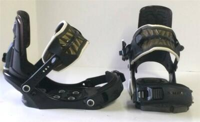 Salomon SP4 Mens Snowboard Bindings Black Copper Size Small NEW