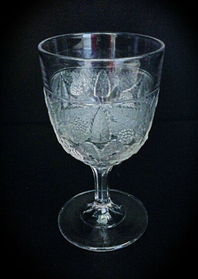 Very Early 1870s Raspberry Glass Goblet