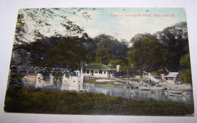 1911 View of Ellsworth Park DANVILLE ILLINOIS Postcard