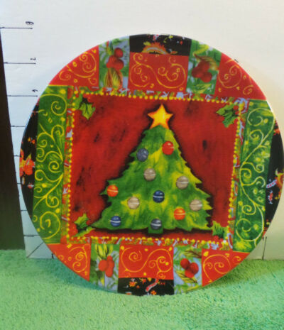 Christmas Dessert Plates, Red,Far East Brokers & Consultants Inc, Holiday Decor