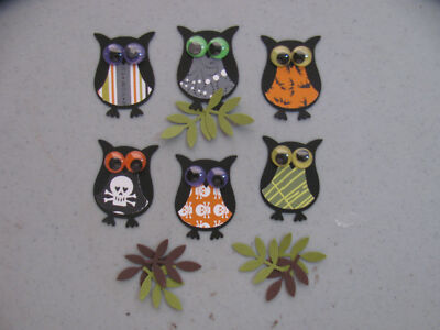 Stampin' Up Halloween 6 OWL & 6 Branch Punches Set of 6