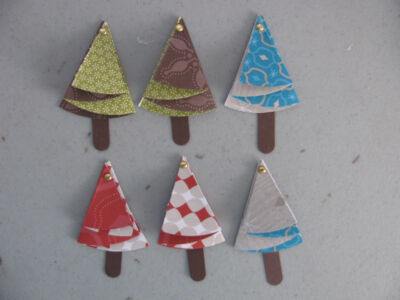 Stampin' Up Designer Series Paper Christmas Trees Set of 6