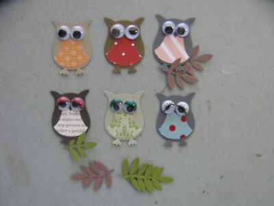 Stampin' Up 6 OWL & 6 Branch Punches Set of 6