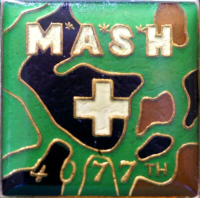 (2) MASH 4077th Hat / Lapel Pins (NEW) 100% to VFW National Home for Children