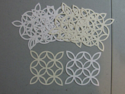 Stampin' Up Whisper White/Very Vanilla LATTICE Die Cuts 20