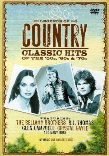 LEGENDS OF COUNTRY: CLASSICS HITS OF THE '50S, '60S, & '70S - NEW DVD