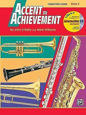 Accent on Achievement Book 2 John O'Reilly Mark Williams Conductor's Score w/ CD