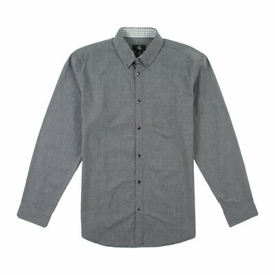 NEW MENS CALVIN KLEIN GRAY CLASSIC FIT CASUAL DRESS SHIRT You Pick Size