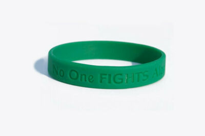 CANCER AWARENESS WRISTBANDS. Proceeds go to cancer research.
