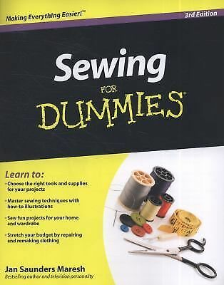 Sewing For Dummies by Saunders Maresh, Jan