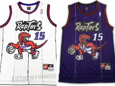 Toronto Raptors Vince Carter #15 Classic Throwback Swingman Jersey Purple White