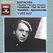 Beethoven: Piano 4 Sonatas 8, 14, 21, 23 / by Yves Nat CD FREE SHIPPING!!! ��!!!