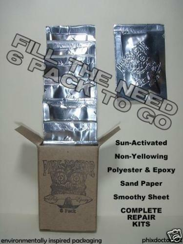 6 Pack Surfboard Repair Kits Epoxy or Polyester