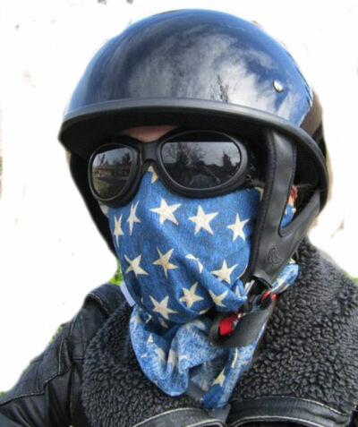 Motorcycle Mask (multi-functional headband,skullcap, face) Variety 100%Cotton