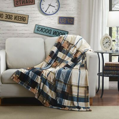 Soft Winter Cabin Super Flannel Striped Tartan Plaid Checkered  Throw/Blanket