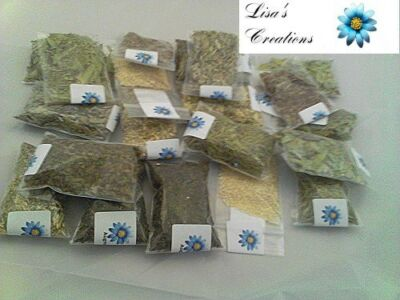 20 Herb Kit Healing (half ounce each)- charcoal included wicca pagan spells