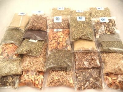 Herbal Teas 20 Herb Sampler Kit kitchen, brew, cooking, seasoning, culinary (A)