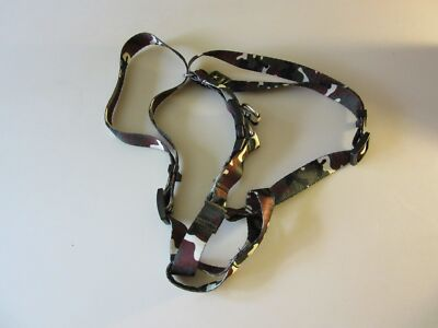 "New Khaki Camouflage Camo Med 18-29"" Step-In Harness Made by U.S. Army for Dogs"