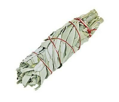 "5"" White Sage Smudge Bundle Cleansing. smudging, herb, Wicca, Native"