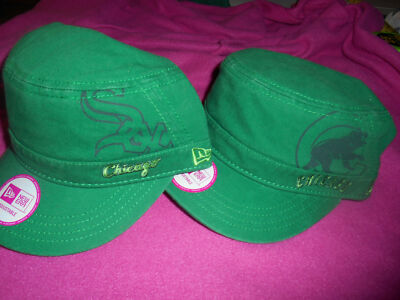 "New Era Womens Chicago White Sox & Cubs""Goal 2 Go Military St.Pats"" Cap-NWT"