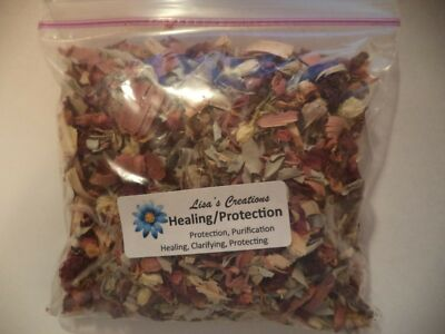 Healing/Protection Blend - 2-1/2 Oz. w/ roll of charcoal -  wicca, pagan, herb