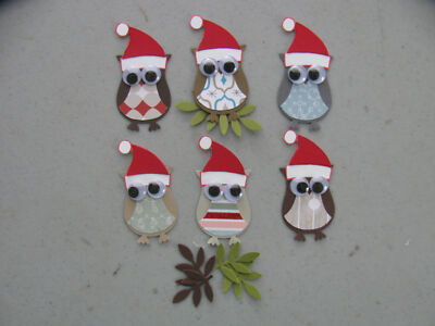 Stampin' Up Christmas 6 OWL & 6 Branch Punches Set of 6