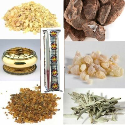 Incense Sampler Kit with Charcoal and Choice of Burner