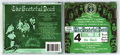 GRATEFUL DEAD, 1970, 1st ever acoustic set, The Warehouse, New Orleans, on CD