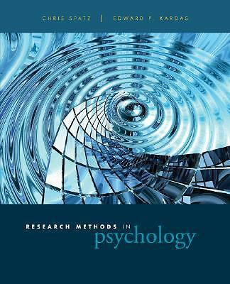 Research Methods in Psychology: Ideas, Techniques, and Reports by Spatz, Chris,