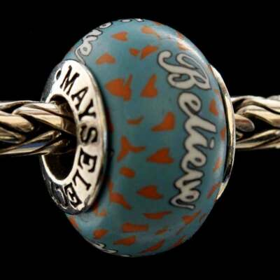 "MADE IN USA Authentic MAYselect ""Believe"" Inspiration Beads/Charm .925 Sterling"