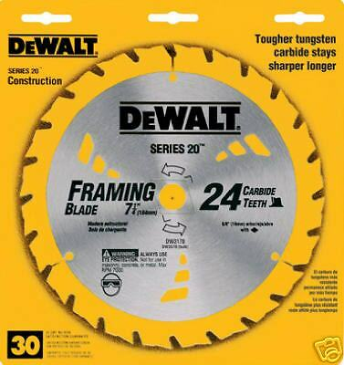 "DEWALT DW3178 7-1/4"", 24 Tooth Framing Saw Blade"