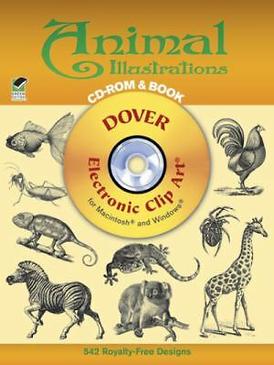Animal Illustrations CD-ROM and Book (Dover Electronic Clip Art) by Dover